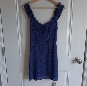NWOT Reformation Hyacinth Hilton Mini Dress Size 6